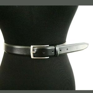 H&M Men's Black Belt with Silver Buckle Size 35-36